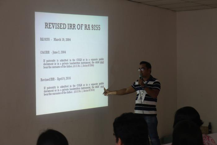 Orientation of Revised IRR of RA 9255